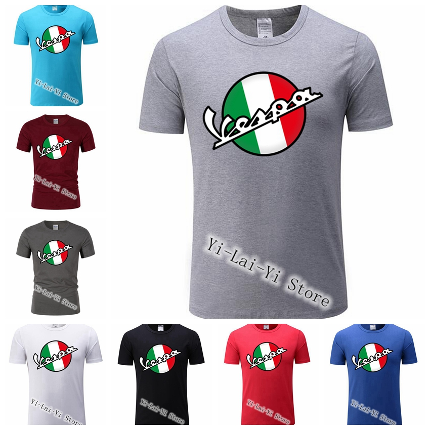 Free Shipping! Vintage Vespa 3D   T     Shirt   Men Italy Scooter Vespa Tee TShirt 80's 90's Teenage Women Motorcycle Youth   T  -  shirt
