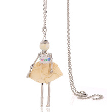 2017 new big necklaces for ladies free shipping vintage cute women's doll necklaces & pendants long chain christmas gifts cheap