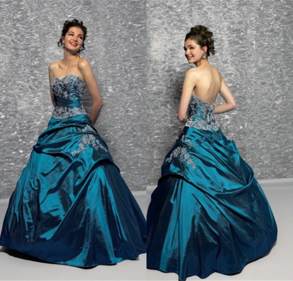 7ee44d70105 2015 Latest Design Sweetheart Low Back Ruffled Embroidery Satin Quinceanera  Dress Prom Gala Dress Vestidos De 15 Anos Curto