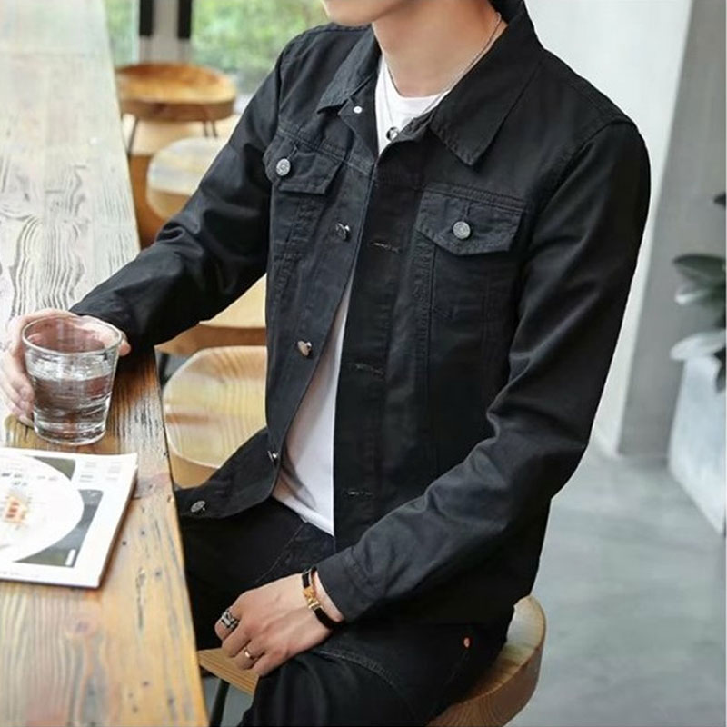 Men's Jacket 2020 New Modis Men's Denim Jacket Korean Version Of The Slim Men's Black Jacket Trend Handsome Student Jacket