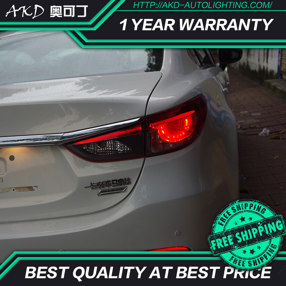 AKD tuning cars Tail lights For Mazda 6 Atenza Taillights LED DRL Running lights Fog lights