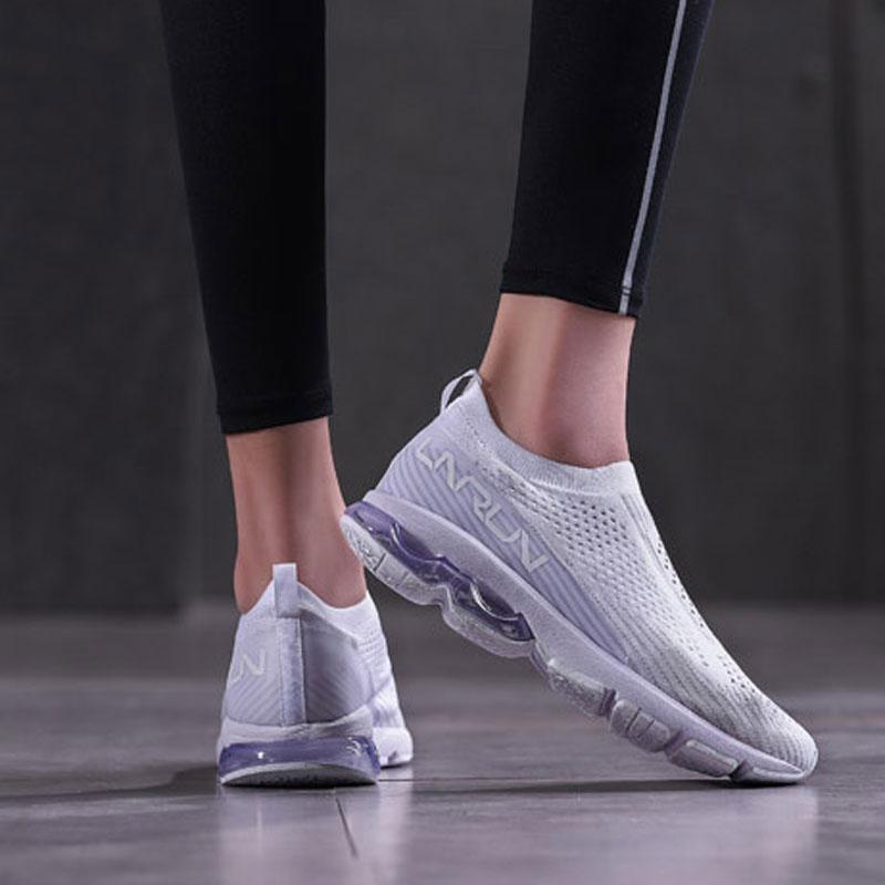 Li-ning femmes bulle ARC chaussures de course LI-NING ARC coussin baskets Mono fil respirant doublure chaussures de Sport ARHN034 XYP690 - 4