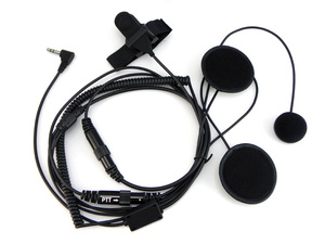 Image 3 - XQF 2.5mm plein visage fermer casque de moto casque PTT pour Motorola Portable Radio talkie walkie T5428 TLKR T80 T6 T60 T6500