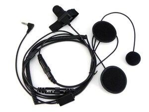 Image 3 - Xqf 2.5 ミリメートルフルフェイス近いオートバイヘルメットヘッドセット ptt モトローラ携帯ラジオトランシーバー T5428 tlkr T80 T6 t60 T6500