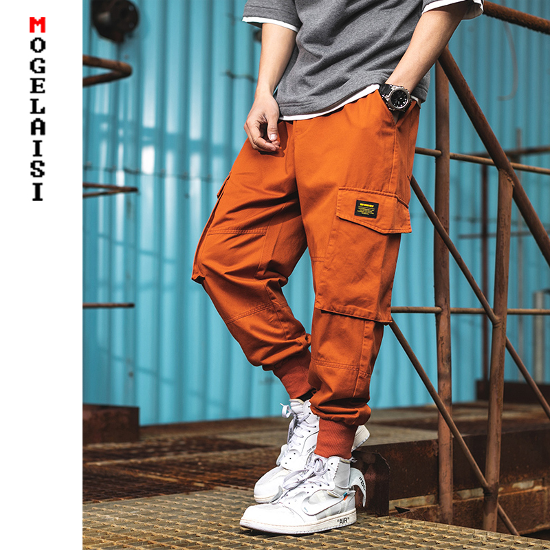 Streetwear Men Cargo Pants 2019 High Street Hip Hop Multi-pocket  Loose Trousers Casual Youth Pants Pantalon Homme A151-A913