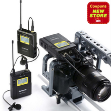 Saramonic uwmic9 вещания УВЧ Камера Беспроводной петличный микрофон Системы двух передатчиков один приемник для Canon DSLR видеокамеры