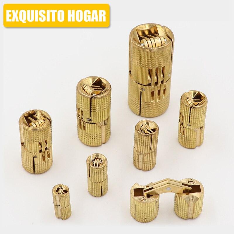 Hide Mini Hardware Copper Plate Hinge Rationing Concealed Hinge Pillar Bucket Cross Word Brass Hinge