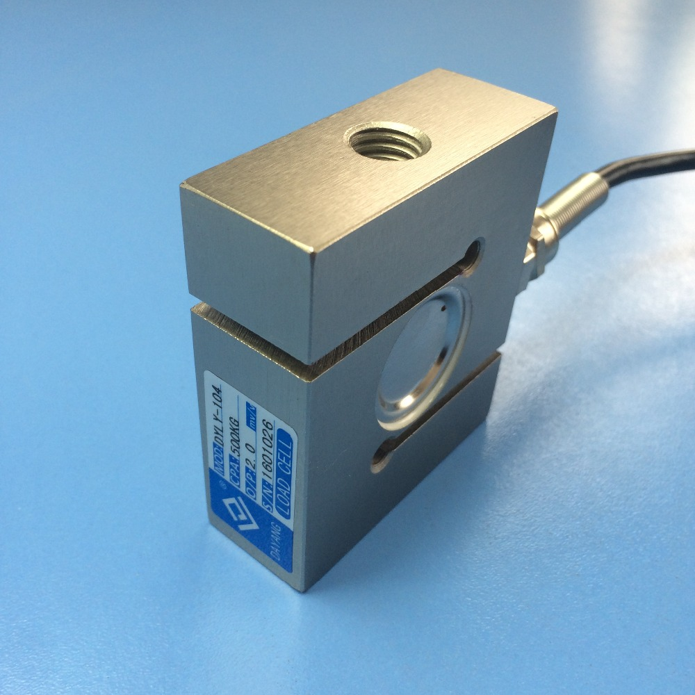 CALT S type load cell 300kg 1T 5T 10T Force Measuring Sensor stainless Steel Weighting Sensor DYLY 104
