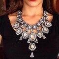 Грос Collier Femme 2016 Ожерелья Подвески Цветочный Кристалл Collares Mujer Шерлок Мода Accesorios Mujer Макси Bijoux Choker