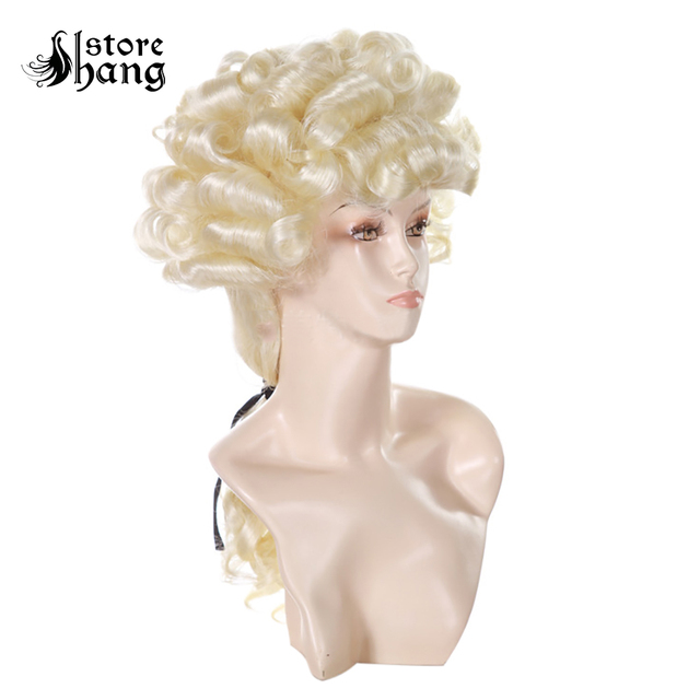 Barrister Court Lawyer Blonde Long Curly Hair Lord Baroque Aristocrat Judge Headwear King Noble Costume Fancy Dress Accessories
