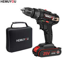 25V Electric Drill Home Multi-function Electric Screwdriver Rechargeable Electric Drill lithium Battery +2 Accessories - DISCOUNT ITEM  30% OFF All Category