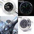 """7/8 """"a 1"""" Da Motocicleta Da Bicicleta do Guiador Black Dial Relógio Top Mount Para Yamaha Suzuki Kawasaki Honda Harley #4515"""