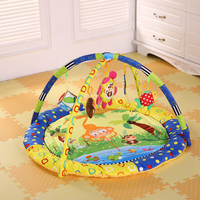 Baby Activity Play Mat With Rack Baby Gym Educational Carpet Soft Play Mat Game Blanket Pad