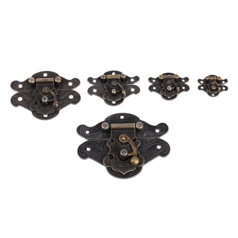 Antique Retro Decorative Latch Hasp Pad Chest Lock for Wooden Jewelry Box W