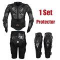 Herobiker motocross racing motorcycle body armor protective jacket + engranajes pantalones cortos + de protección de la motocicleta rodillera