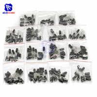 200 PCS 15 Valore Condensatore Elettrolitico di Alluminio 10 V 16 V 25 V 50 V 0.1 uf 0.22 uf 1μF 3.3 uf 10μF 47μF 100μF 220μF Low ESR Condensatore