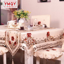 YMQY Exquisite Embroidery Hollow-out Chair Cover Table cloth Ellipse Tea Table Cloth Rural Table Runner Round Tablecloth