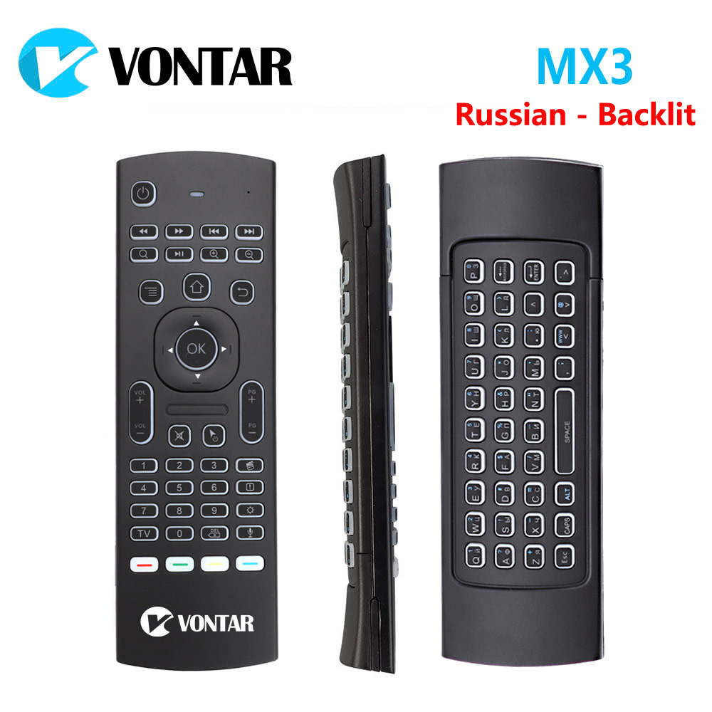 Backlight MX3 Pro Fly Air Mouse 2.4G Wireless mini keyboard with Voice IR learning Gyroscope For Android TV box Mini PC