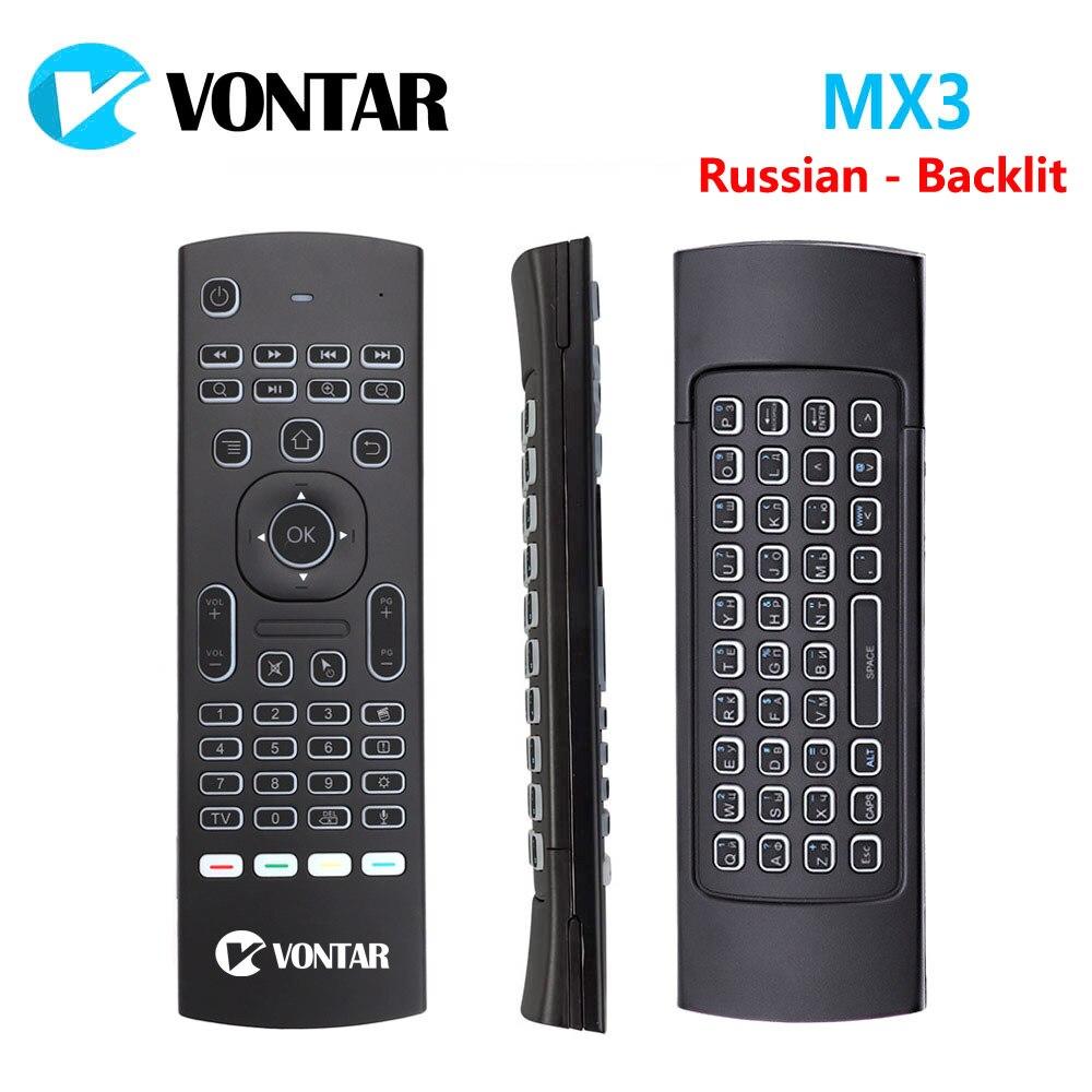 Hintergrundbeleuchtung MX3 Pro Fly Air Maus 2,4g Wireless mini tastatur mit Stimme IR lernen Gyroskop Für Android TV box mini PC