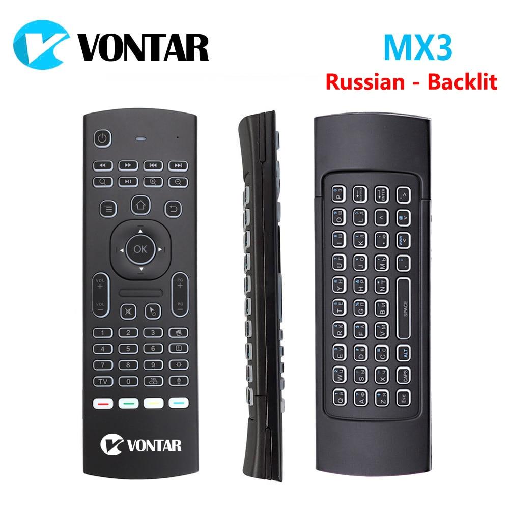 MX3 Air Maus 2,4G Wireless mini tastatur mit Stimme Fernbedienung IR lernen Gyroskop Für Android TV Remote T9 TV BOX