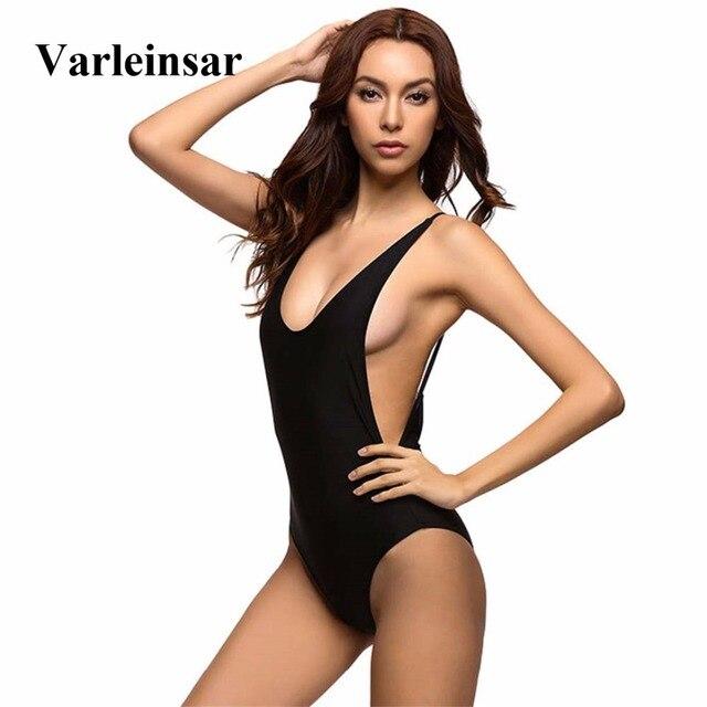 4004878caa0 New Sexy Low Back Swim Suit For Women Swimwear One Piece Swimsuit Female  Bather 2019 Bathing Suit Backless Monokini Lady V111