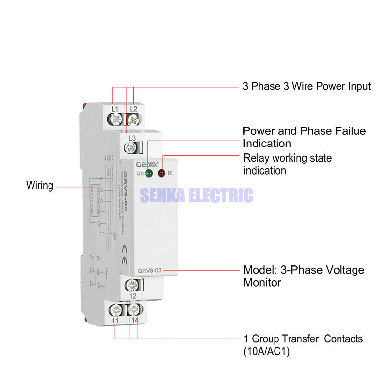 3 Phase Power Control Relays Phase Sequence Failure Protection Monitoring Relay