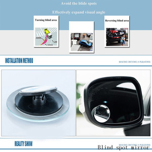 Image 2 - Auto Car Accessories Blind Spot Mirror for dead zone safety Convex glass round shape 360 degree rotable rear view mirror