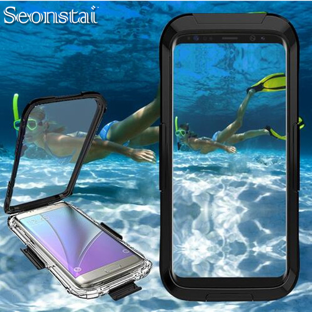 info for bf0ba e0bb5 US $11.99 20% OFF|Seonstai Waterproof Case for Samsung Galaxy S8 S8 Plus  Note 8 Swimming Diving Full Case Underwater Phone Cover for Galaxy Note8-in  ...