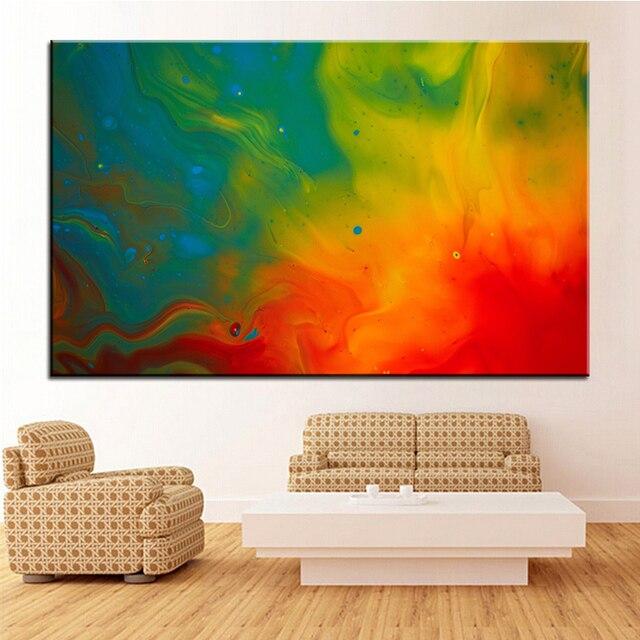 Große Größe Druck Ölgemälde Farbe Flammen Wandmalerei Decor Wandkunst Bild  Für Wohnzimmer Malerei Kein Rahmen