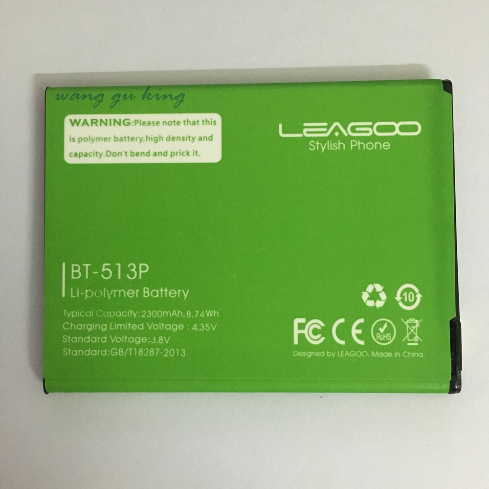 BT-513P For <font><b>Leagoo</b></font> <font><b>M5</b></font> Battery Batterie <font><b>Bateria</b></font> Accumulator AKKU High Quality 2300mAh image