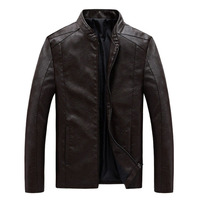 New Fashion Plus Size 8XL Leather Jackets Men Business Casual Coats Autumn Motorcycle Male Leather Jacket Outwear Fatty Jackets