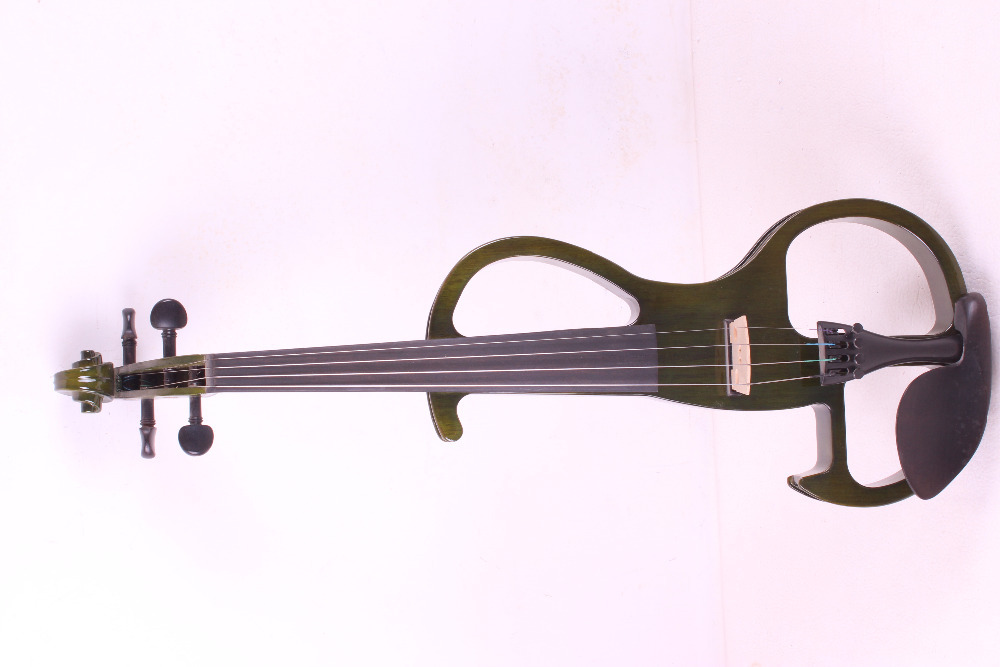 4/4 Electric Violin 4 string  dark green color  #2 the item is the color   if you need other color please tell me спот brilliant ina арт g07734 05