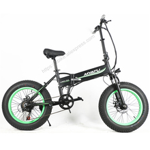 350W Strong Power 20 Inch Snow Bike, 6 Spped Folding Electric Bike, Fat E Bike, MTB Bicycle,Aluminum Alloy Frame Suspension Fork