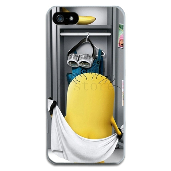 funny Despicable Me Yellow Minion soft tpu cell phone case for apple iphone  4 4s 5 5s 6 4.7 inch protective phone cover cases 5ef4a0ead