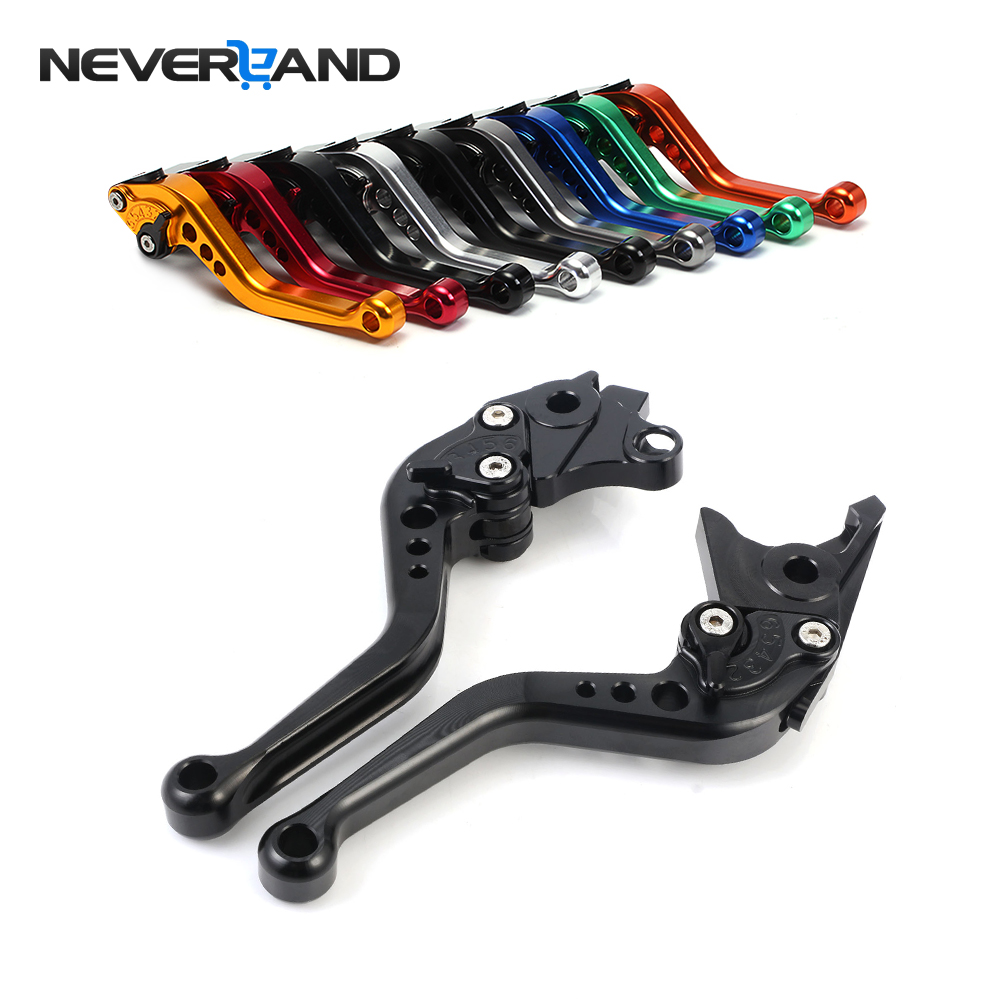 NEVERLAND CNC Long&Short Adjuster Brake Clutch Levers For Suzuki HAYABUSA/GSXR1300 GSX 650F 1250 F/SA 1400 GSF 650 1200 1250 adjustable short straight clutch brake levers for suzuki gsx 650 f gsf 650 bandit n s dl 1000 v strom 2002 2015