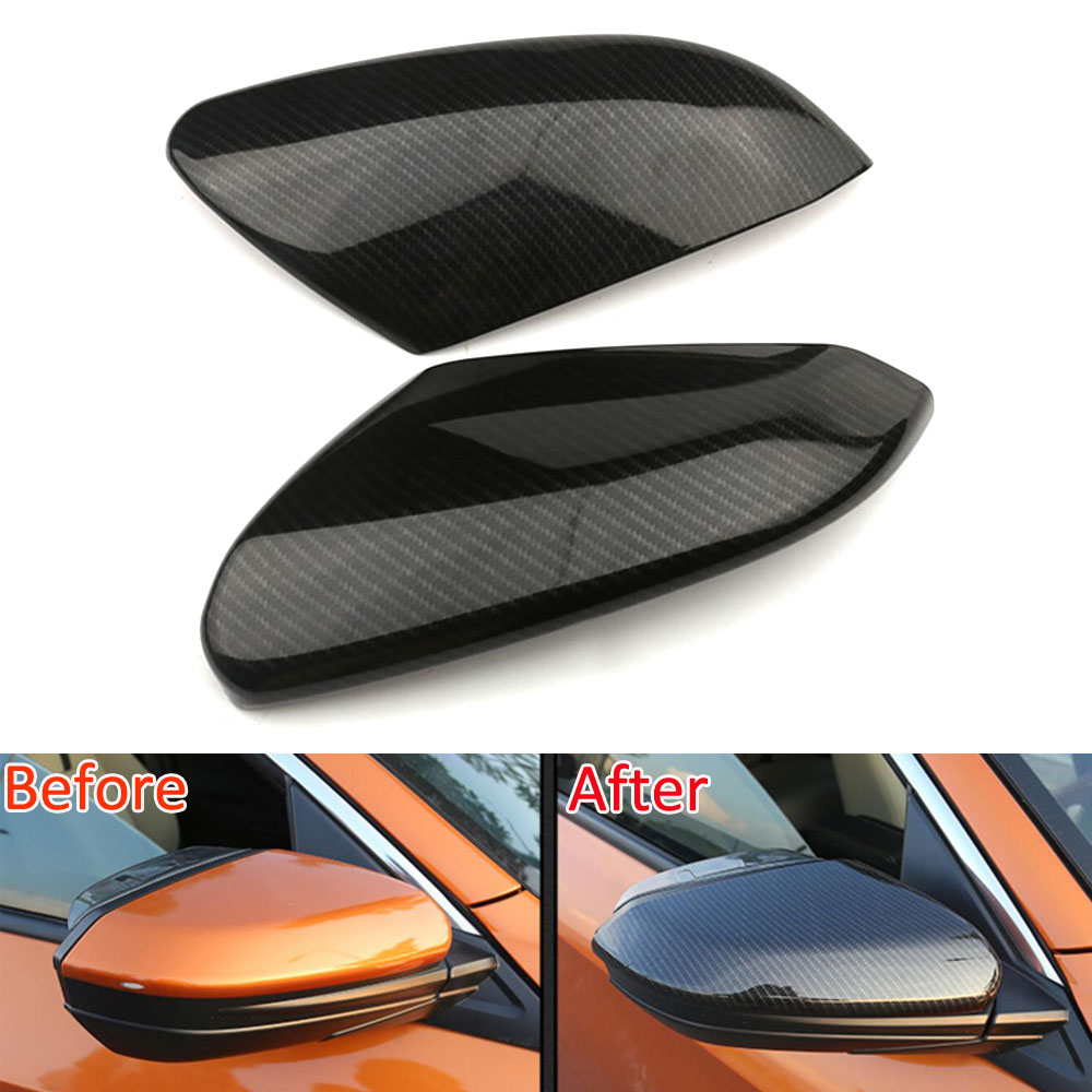 For Honda Civic 10th 2016 2017 2018 Carbon Fiber Style Rear View Side Mirror Trim Cover Caps