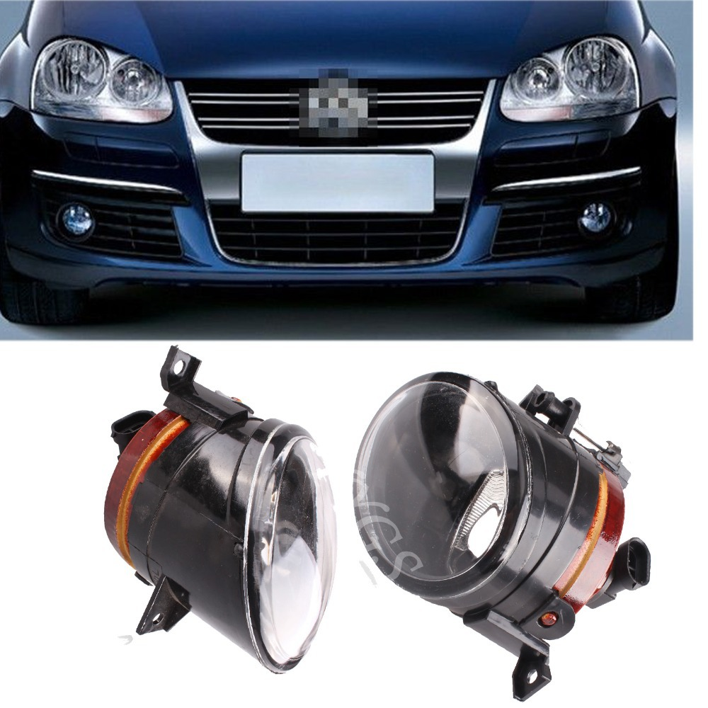 Auto parts 2x car front bumper driving fog light for vw golf jetta bora mk5 12v