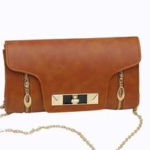 2016 Women's Rivet Envelope Shoulder Bags Famous Designer PU Leather Crossbody Bag for Women Chain Messenger Bags Bolsa Feminina