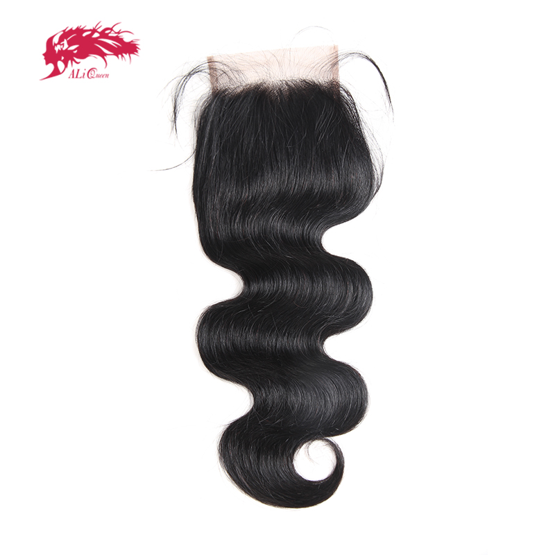 Body Wave Peruvian Virgin Hair Lace Closure Bleached Knot Free Part Natural Color 12 to 18
