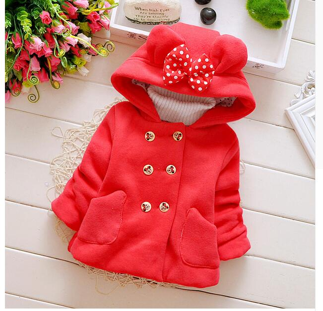 2016-new-spring-and-autumn-baby-girl-cotton-coat-thick-double-breasted-bow-hooded-jacket-children-0-2-years-brand-free-shipping-1