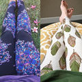 New 2017 Print pineapple Flower leaf Leggings Leggins Guitar Plaid Thin Nine Pant Fashion Women Clothing aptitud Trousers