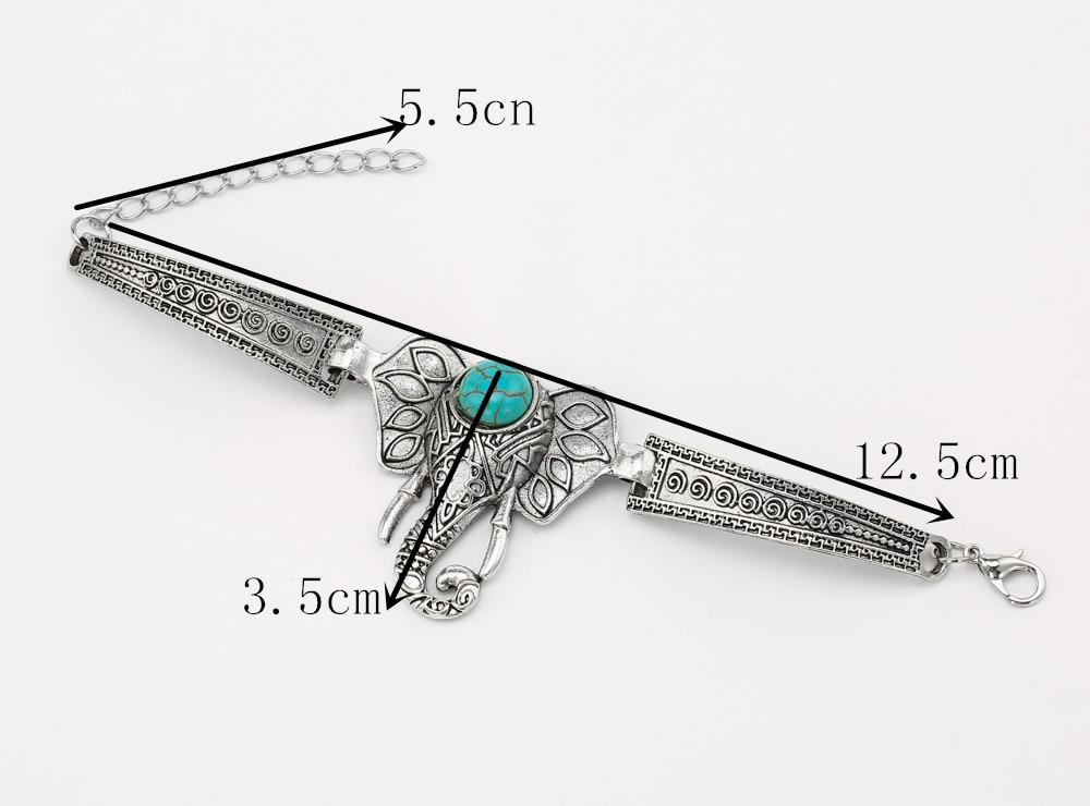 Heißer Verkauf Elefant Armband für Frauen Vintage Armbänder & - Modeschmuck - Foto 6