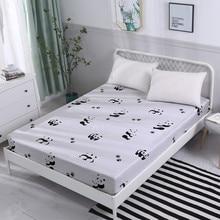 Панда печать кровать наматрасник протектор Воздухопроницаемый домашний текстиль наматрасник Захваты постельное белье с эластичным