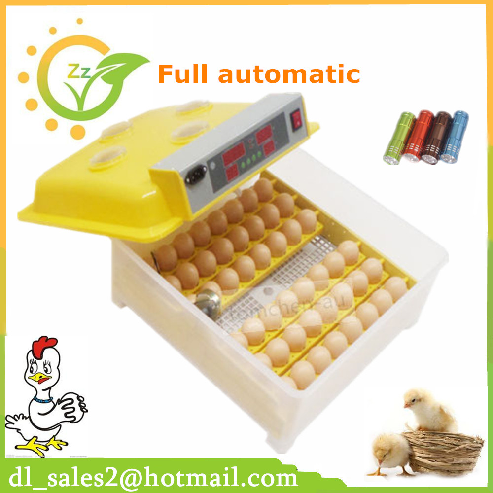 Hot sale! ZZ48 automatic egg incubator for bird turkey goose duck and so on high hatching rate LED display top sale household farm egg incubators 24 egg incubators for led display turner for sale