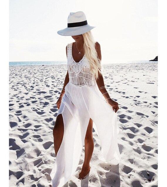 Weißes Kleid Beachwear Elegante Weiße Kleid Edle Eleganz Von Kleid ...