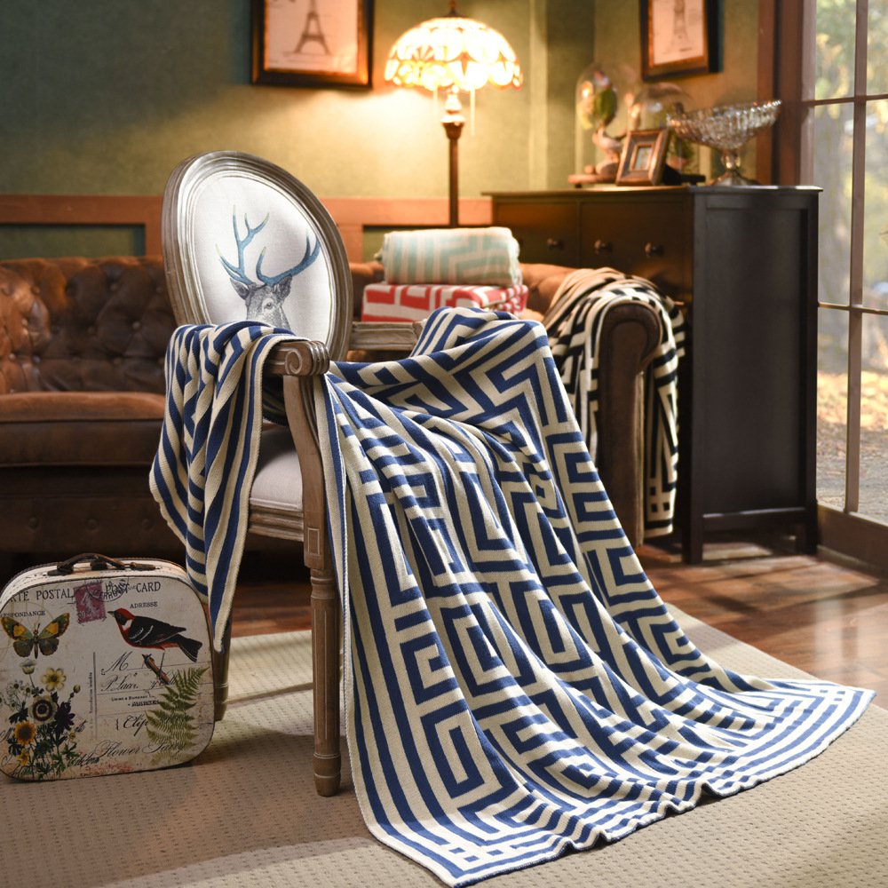 Beroyal Brand Throw Blanket - 1PC 100% Cotton Knitted Blanket Adult Blanket Spring/Autumn Sofa Blanket cobertor 130x150cm 3