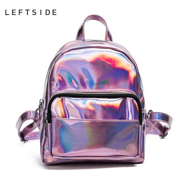 LEFTSIDE 2017 Summer Women Laser Backpack Women Bag Small Travel ...