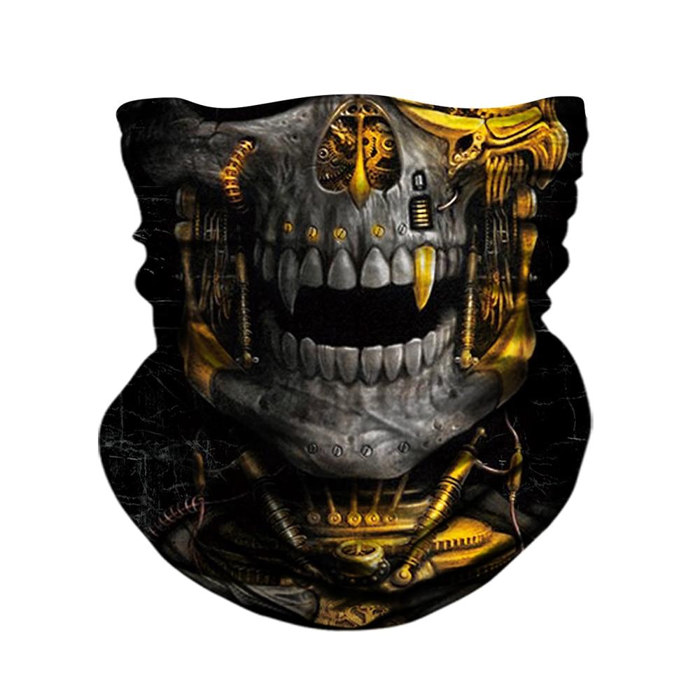 BJMOTO UV Protection Head Scarf Neck Motorcycle Cycling Ghost Skull Face Mask Ski Balaclava Headband Face Shield Bandana