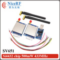 2sets SV651 500mW TTL/RS232/RS485 interface 3km radio modem 433MHz RF Transceiver Module