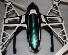 Envío gratis piel de fibra de carbono pegatina Wrap Fr Yuneec Q500 Q500 + tifón Quadcopter Drone caso(China)